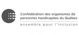Logo Confédération des organismes de personnes handicapées du Québec