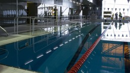 Pool with swimming corridors at the Saint-Laurent Sports Complex, Montreal